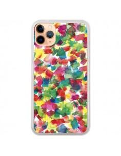Coque iPhone 11 Pro Max Speckled Watercolor Blue - Ninola Design