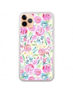Coque iPhone 11 Pro Max Speckled Watercolor Pink - Ninola Design