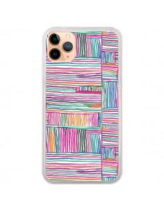 Coque iPhone 11 Pro Max Watercolor Linear Meditation Pink - Ninola Design