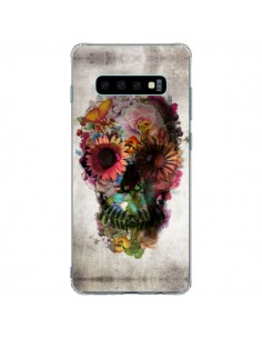 Coque Samsung S10 Plus Skull Flower Tête de Mort - Ali Gulec