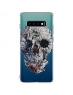 Coque Samsung S10 Plus Floral Skull Tête de Mort Transparente - Ali Gulec
