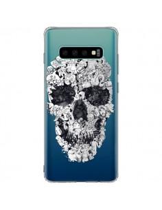 Coque Samsung S10 Plus Doodle Skull Dessin Tête de Mort Transparente - Ali Gulec