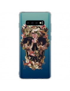 Coque Samsung S10 Plus Jungle Skull Tête de Mort Transparente - Ali Gulec