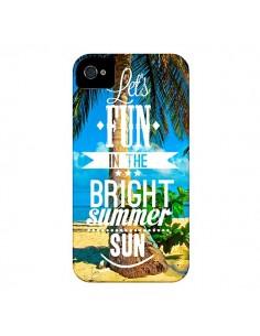 Coque Fun Summer Sun Été pour iPhone 4 et 4S - Eleaxart