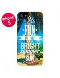Coque Fun Summer Sun Été pour iPhone 5 et 5S - Eleaxart