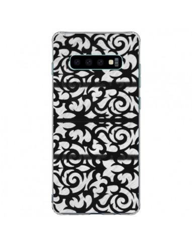 Coque Samsung S10 Plus Abstrait Noir et Blanc - Irene Sneddon
