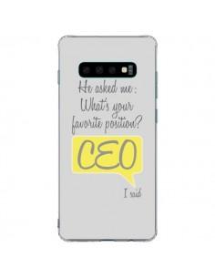 Coque Samsung S10 Plus What's your favorite position CEO I said, jaune - Shop Gasoline