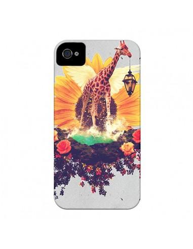 Coque Girafflower Girafe pour iPhone 4 et 4S - Eleaxart