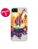 Coque Girafflower Girafe pour iPhone 5 et 5S - Eleaxart