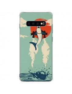 Coque Samsung S10 Plus Requin Avion Volant - Jay Fleck