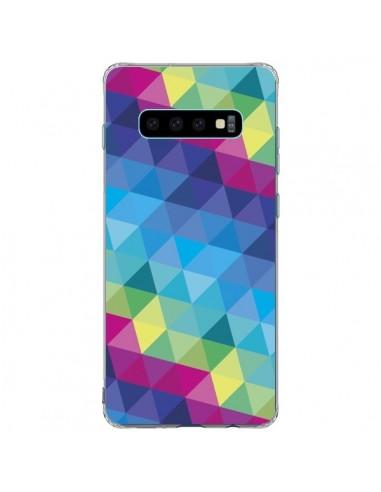 Coque Samsung S10 Plus Azteque Gheo Bleu - Javier Martinez