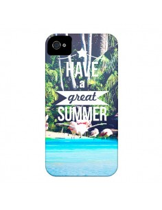 Coque Have a Great Summer Été pour iPhone 4 et 4S - Eleaxart