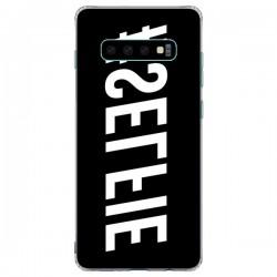 Coque Samsung S10 Plus Hashtag Selfie Blanc Inversé Horizontal - Jonathan Perez