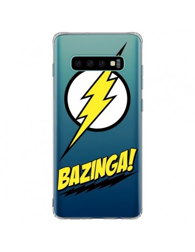 Coque Samsung S10 Plus Bazinga Sheldon The Big Bang Thoery Transparente - Jonathan Perez