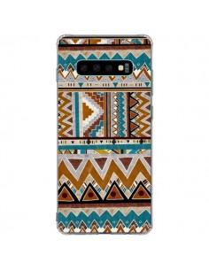 Coque Samsung S10 Plus Azteque Vert Marron - Kris Tate
