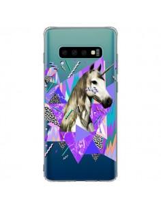 Coque Samsung S10 Plus Licorne Unicorn Azteque Transparente - Kris Tate