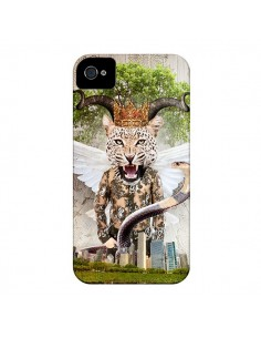 Coque Hear Me Roar Leopard pour iPhone 4 et 4S - Eleaxart