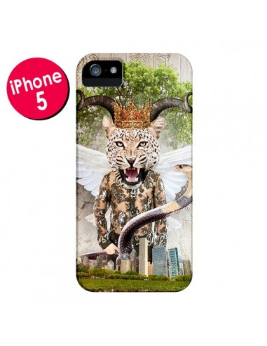 Coque Hear Me Roar Leopard pour iPhone 5 et 5S - Eleaxart
