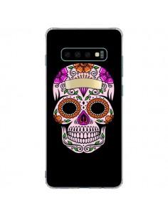 Coque Samsung S10 Plus Tête de Mort Mexicaine Multicolore - Laetitia