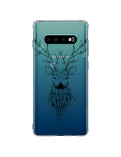 Coque Samsung S10 Plus Cerf Poétique Transparente - LouJah