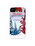 Coque Voeux Joyeux Noël pour iPhone 4 et 4S - Eleaxart