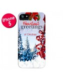 Coque Voeux Joyeux Noël pour iPhone 5 et 5S - Eleaxart
