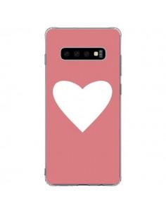 Coque Samsung S10 Plus Coeur Corail - Mary Nesrala