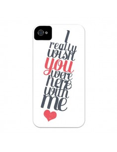 Coque Here with me pour iPhone 4 et 4S - Eleaxart
