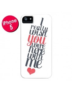 Coque Here with me pour iPhone 5 et 5S - Eleaxart