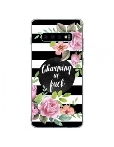 Coque Samsung S10 Plus Charming as Fuck Fleurs - Maryline Cazenave