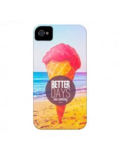 Coque Glace Ice Cream Été pour iPhone 4 et 4S - Eleaxart