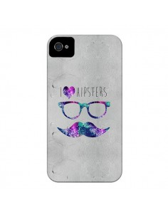 Coque I Love Hipsters pour iPhone 4 et 4S - Eleaxart