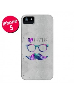 Coque I Love Hipsters pour iPhone 5 et 5S - Eleaxart