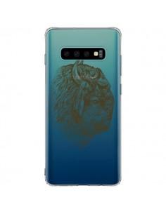 Coque Samsung S10 Plus Buffalo Bison Transparente - Rachel Caldwell