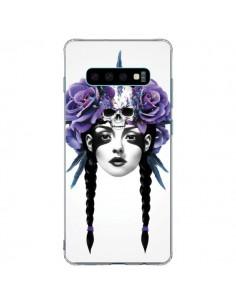 Coque Samsung S10 Plus Fille Fleurs Warrior - Ruben Ireland