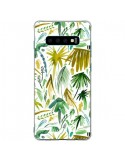 Coque Samsung S10 Plus Brushstrokes Tropical Palms Green - Ninola Design