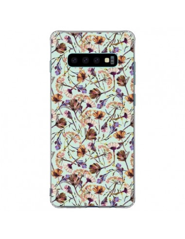 Coque Samsung S10 Plus Dry Blue Flowers - Ninola Design