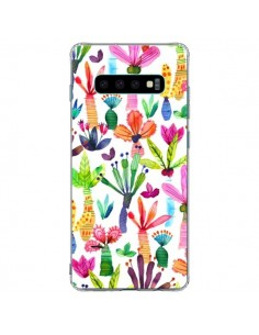 Coque Samsung S10 Plus Overlapped Watercolor Dots - Ninola Design