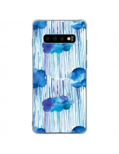 Coque Samsung S10 Plus Rain Stitches Neon - Ninola Design