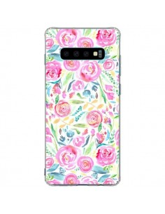 Coque Samsung S10 Plus Speckled Watercolor Pink - Ninola Design
