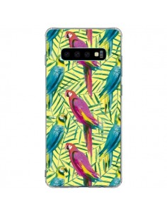 Coque Samsung S10 Plus Tropical Monstera Leaves Multicolored - Ninola Design