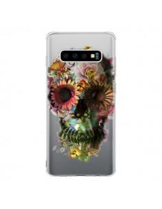 Coque Samsung S10 Skull Flower Tête de Mort Transparente - Ali Gulec