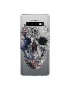 Coque Samsung S10 Floral Skull Tête de Mort Transparente - Ali Gulec