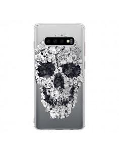Coque Samsung S10 Doodle Skull Dessin Tête de Mort Transparente - Ali Gulec