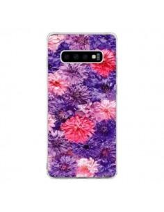Coque Samsung S10 Fleurs Violettes Flower Storm - Asano Yamazaki