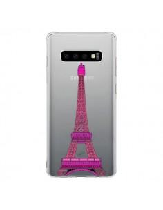 Coque Samsung S10 Tour Eiffel Rose Paris Transparente - Asano Yamazaki