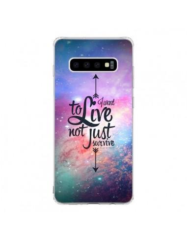Coque Samsung S10 I want to live Je veux vivre - Eleaxart