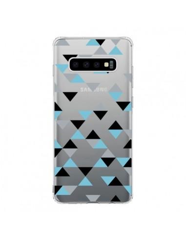 Coque Samsung S10 Triangles Ice Blue...