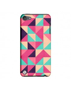 Coque Azteque Triangle Rose Vert pour iPod Touch 5 - Eleaxart