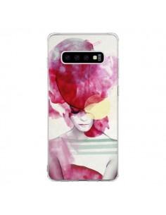 Coque Samsung S10 Bright Pink Portrait Femme - Jenny Liz Rome